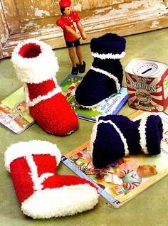 tejidos artesanales en crochet: botitas para niños con punto imitacion al corderito
