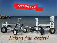 Order Your Beach Cart, Fishing Cart, Kayak Cart and Paddle Board (SUP) Cart - CartMakers