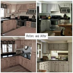 diy gray kitchen reveal an 80s kitchen goes cottage style