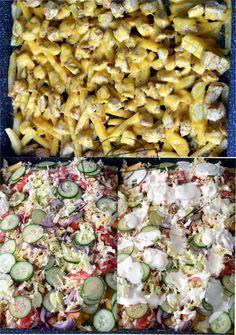 Kapsalon – Holenderski fast food – Smaki na talerzu Chimichanga, Calzone, Grilling, Menu, Tasty, Bread, Baking, Recipes, Food