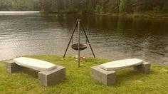 Bålpanne og benker fra Reint tre Norge AS
