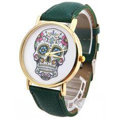 Fashion Design Women Dress watches Quartz Watch fashion SKULL Watch Ladies Sport Watches