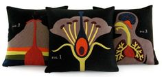 Anatomy Pillows - Heather Lins Home Science Project Collection $220