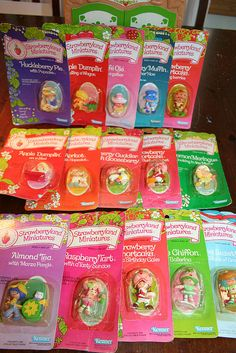 Vintage Strawberry Shortcake minis....I still have mine and many still smell!