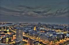 Rotterdam/Schiedam by night HDR