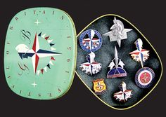 Influential - The badges are visually inspirational, none more so than the set depicting the 1951 Festival of Britain and the iconic patriotic brand 'Britannia', designed by Abram Games (1914-1996): (Gareth, 2012)