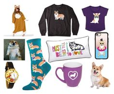 """Corgi"" by jill-donoghue on Polyvore featuring Corgi, Whimsical Watches, Casetify and PBteen"