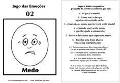 Carlota jogo das emoções 2 medo Hans Christian, Emotional Intelligence, Psychology, Coaching, Homeschool, Books, Kids, Children, Wordpress