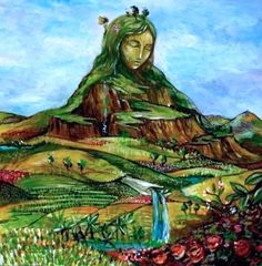 Pachamama is a Mother Earth goddess venerated by indigenous South American Andean traditions. Art Et Nature, Nature Artwork, Nature Drawing, Earth Goddess, Goddess Art, Goddess Of Nature, Divine Mother, Mother Goddess, Psychedelic Art