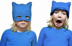 Adorables têtes masquées... Le modèle Bonnet à tricoter ! ~ Balaine   Modèle gratuit