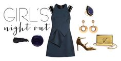 """""""Blue and Gold"""" by anandiek ❤ liked on Polyvore featuring Roland Mouret, Jimmy Choo, Marni, Giuseppe Zanotti, Lauren B. Beauty, Ippolita and girlsnightout"""