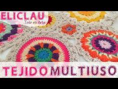 Uniendo círculos   Tejidos   Combining woven circles   EliClau - YouTube