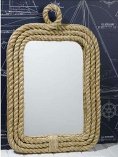 DIY Rope Framed Mirror