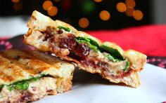 A warm, sweet, and savory sandwich that you will never forget.  The title is a mouthful, as are all of the flavors you get in every bite. Some bites are more sweet from the cranberry jam, while others are more savory and crunchy from the cashew cheese.
