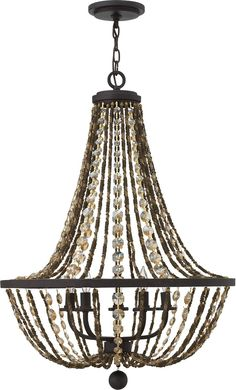 NEW Fredrick Ramond Hamlet 5-Light Chandelier Vintage FR42865VBZ