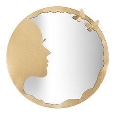 Oglinda decorativa de perete Luxy aurie D80cm Plates, Mirror, Tableware, Home Decor, Licence Plates, Dishes, Dinnerware, Decoration Home, Room Decor