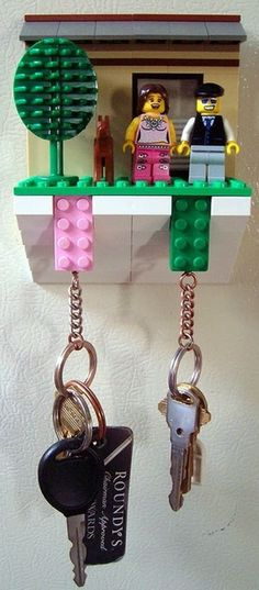 Key storage made of LEGO