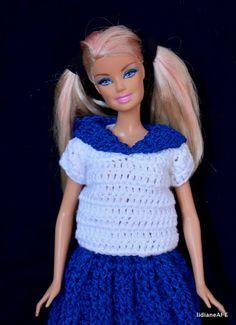Croche/Uniforme escolar japones/businha - LiiArt