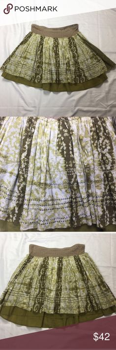 NWT Free People Skirt Size 10 New Free People layered skirt. Size 10. Length approximately 17 inches. 100% cotton Free People Skirts Mini