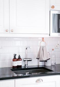 DIY kitchen towel hanger