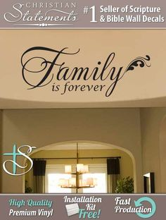Family is forever wall decal. Living Room