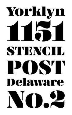 Yorklyn Stencil by House Industries