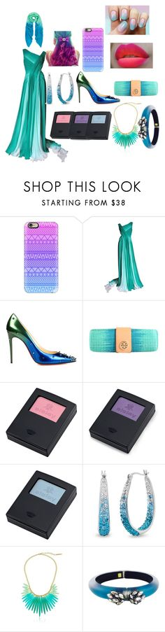 """Ombre"" by ms-kitty-cat ❤ liked on Polyvore featuring Casetify, Monique Lhuillier, Christian Louboutin, Tory Burch, Sisley, Amanda Rose Collection, Elie Tahari and Alexis Bittar"