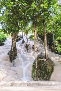 Sticky Waterfalls in Thailand near Chiang Mai