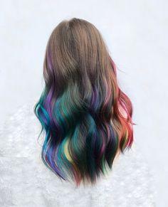 Hair Color Underneath, Pelo Multicolor, Fantasy Hair Color, Dye My Hair, Kids Dyed Hair, World Hair, Creative Hair Color, Fresh Hair, Long Wavy Hair