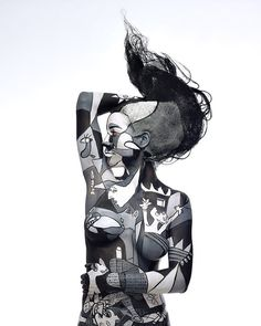 #Picasso #Guernica #art #appropriation #bodypaint
