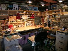 Hobby Model Desk and Workbench Photo by FokkerDrI Hobby Desk, Hobby Room, Hobby Lobby, Home Workshop, Garage Workshop, Tabletop, Painting Station, Space Crafts, Model Building