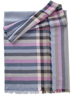Luxury Italian wool scarf for men with pink and purple stripes and checks Wool Scarf, Plaid Scarf, Men's Scarves, Lightweight Scarf, Keep Warm, Scarf Styles, Classic Looks, Purple, Pink