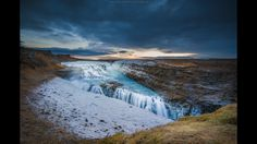 A glimpse at Iceland's natural beauty - Gullfoss, the biggest waterfall in Iceland.