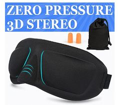 AMAZKER Sleep Mask & Ear Plugs Large Eye Cavities More Comfortable Anti-fade Anti-bacterial Anti-mite Durability Blocks out most sunlight Includes Carry Pouch - For Travel Shift Work & Meditation Best Amazon, Amazon Deals, Best Sleep Mask, Amazon Tribe, Look Good Feel Good, Large Eyes, Ear Plugs, 3 D, Pouch