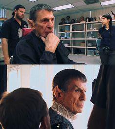 Leonard Nimoy, still got it ;)  even as an older Spock