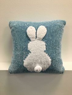 Bunny Cushion Cover Knitting pattern by Mr. Kaplan | Downloadable PDF
