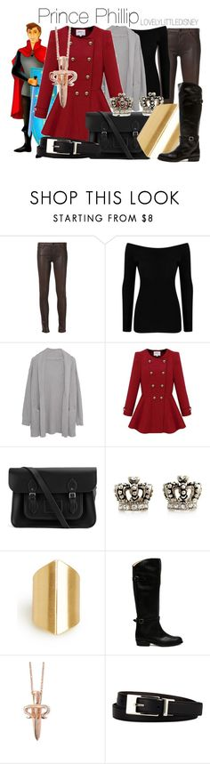 """""""Prince Phillip"""" by lovelylittledisney ❤ liked on Polyvore featuring Koral, Boohoo, Margaret O'Leary, The Cambridge Satchel Company, Juicy Couture, DailyLook, Frye, LeiVanKash, Liz Claiborne and disney"""