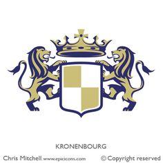 Kronenbourg Beer Crest by Chris Mitchell