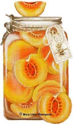 Melissa Shirley Designs | Hand Painted Needlepoint | Peaches © Mary Lake Thompson