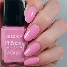 Jessica Nails Phenom The Futurist Collection - Electro Pink  (swatch by B Nailed To Perfection)