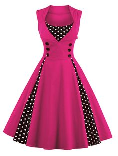 S 4XL Women Robe Pin Up Dress Retro 2017 Vintage 50s 60s Rockabilly Dot Swing Summer female Dresses Elegant Tunic Vestido-in Dresses from Women's Clothing & Accessories on Aliexpress.com | Alibaba Group
