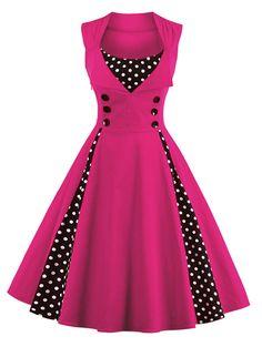 S 4XL Women Robe Pin Up Dress Retro 2017 Vintage 50s 60s Rockabilly Dot Swing Summer female Dresses Elegant Tunic Vestido-in Dresses from Women's Clothing & Accessories on Aliexpress.com | Alibaba Group