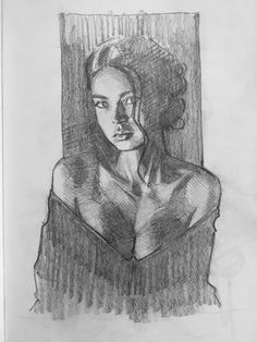 learning to draw Portrait Sketches, Art Drawings Sketches Simple, Pencil Art Drawings, Cute Drawings, Drawing Faces, Drawing Art, Charcoal Art, Figure Sketching, Arte Sketchbook
