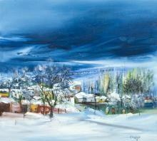 """Zeki SERBEST, """"İsimsiz"""",2006,Tuval Üzerine Yağlıboya,45 x 50 cm."""