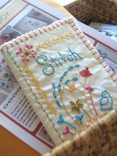 Embroidered Stitch book--PDF --Charlotte Lyons--Ooooooo, I want one! Gonna have to start making it soon. Looks like it might take a while!