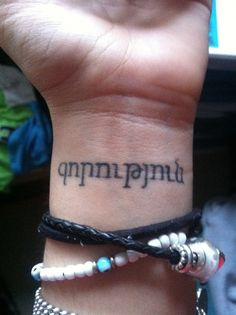 "my first tattoo- ""Strength"" in Armenian"