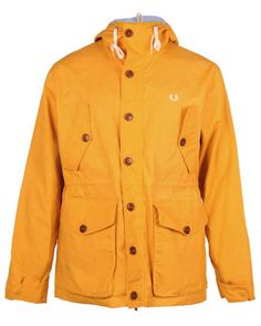FRED PERRY AUTHENTIC Mens Yellow BRITISH SUMMER PARKA JACKET