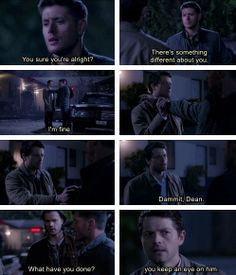 I love his worry, though I'm not sure what he thinks Sam is going to do about it. Didn't realize how far behind Cas is story wise!
