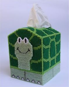 Turtle Tissue Topper-Plastic Canvas Pattern