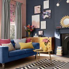 Home Interior Design .Home Interior Design Living Room Decor Colors, Colourful Living Room, Living Room Color Schemes, Elegant Living Room, Room Colors, Bedroom Decor, Wall Colours, Room Colour Ideas, Yellow Walls Living Room